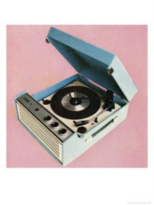 Portable record player c1960s