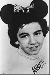 Annette Funicello as she appeared in the Mouseketeers, a Walt Disney show.