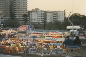 Side Show Alley from the ferris wheel late 1980s