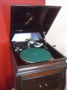 The record-playing part of the gramophone