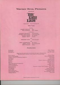 """My Fair Lady"" Programme"