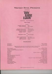 """""""My Fair Lady"""" Programme"""