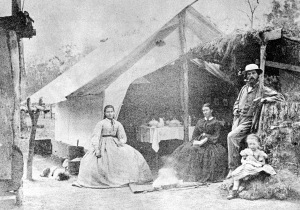 A Queensland railway camp, possibly Fountain's Camp at Murphy's Creek.
