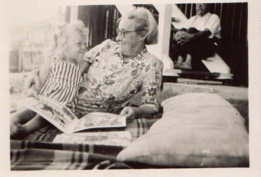 Grandma and me reading