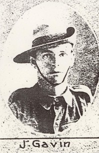 Enlistment photo of Photograph of James Gavin in The Queenslander of 2 October 1915, page 24.