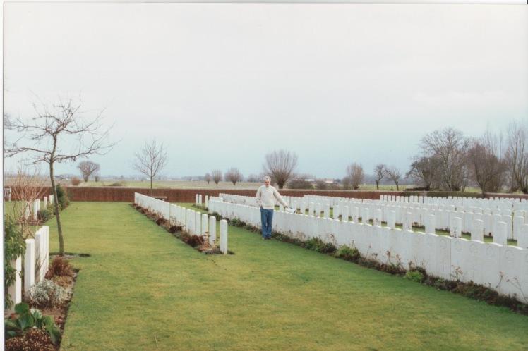 The location of James Gavin's grave in Rue Petillon cemetery November 1992.