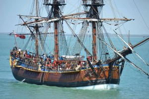 The rigging of the Endeavour is most impressive.