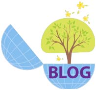 The world is your family tree oyster with blogging. Edited image from Office Clip Art.