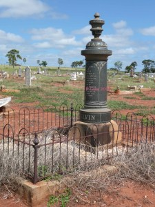 The Melvin grave (2008) makes its own social statement in the Charters Towers cemetery. Easily the largest and most ostentatious of my family history gravestones.