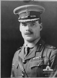 Studio portrait of Lt Col WEH Cass, CMG.  Photo from AWM, copyright expired.