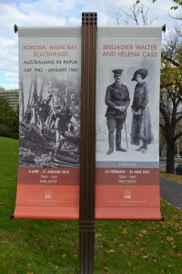 Two excellent exhibitions at Melbourne's Shrine of Remembrance in June 2012. Both had personal interest to us.