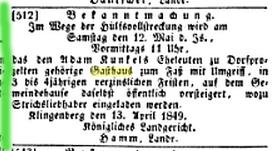 Aschaffenburger Zeitung, 26 April 1849