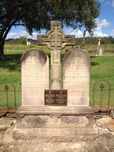 The renovated Kunkel grave at Murphys Creek, Qld