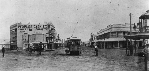 A tidgy bit before my time. The Fiveways in 1900. bishop.slq.qld.gov.au:15622