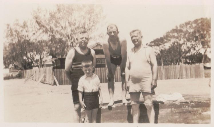 Norman Denis K Dick Amesbury Tom Bryson c1927