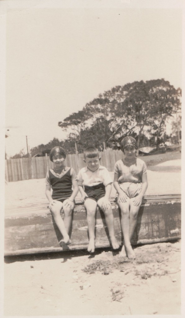 Norman Kunkel and cousins c1927