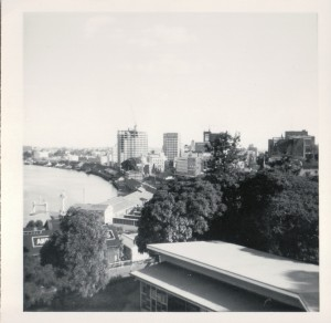 The of the city from the All Hallows' terraces c1964