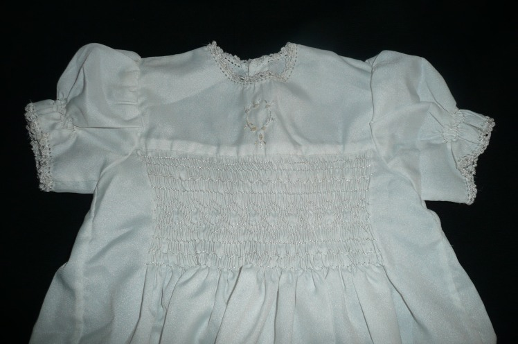 Our children's christening frock.