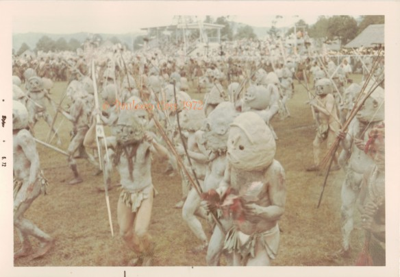 The Asaro Mudmen at the Goroka Show. © Pauleen Cass 1972