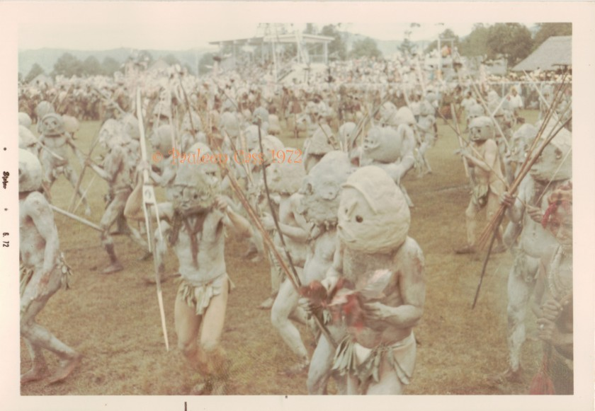 The Asaro Mudmen at the Goroka Show. © Pauleen Cass 1972