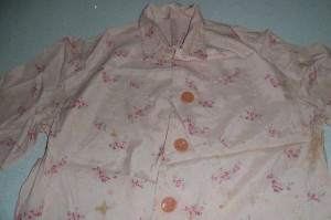 This a pyjama top made by my grandmother.