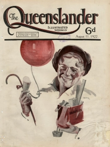 Front cover of The Queenslander newspaper 11 August 1927. Copyright expired.  SLQ bishop.slq.qld.gov.au:503000