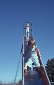 Even simple things like slippery slides are special when you don't have them at home.