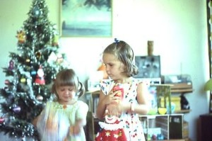 Louisa and Rach Xmas pres 1977 or 76