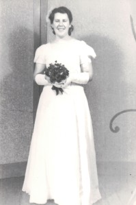 Aunty Olive's deb photo circa late 1930s.