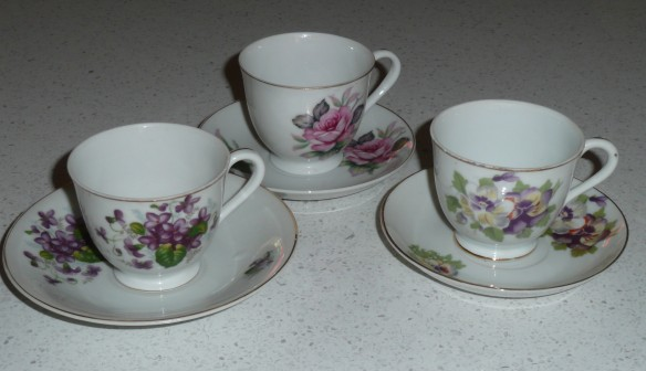 Tiny teacups from Aunty Emily.