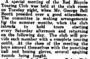 Red Bicycle tour club 12 Aug 1911 Qlder