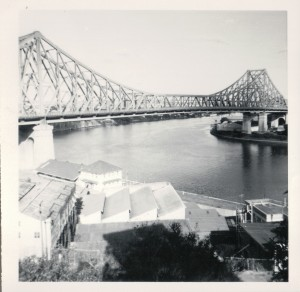 The view of the Story Bridge from All Hallows' terraces.