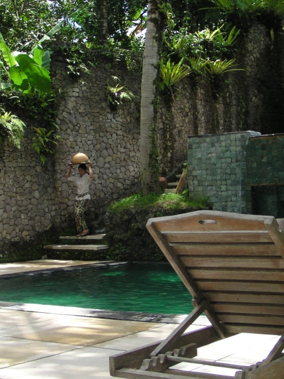 Coffee by the pool in Ubud.