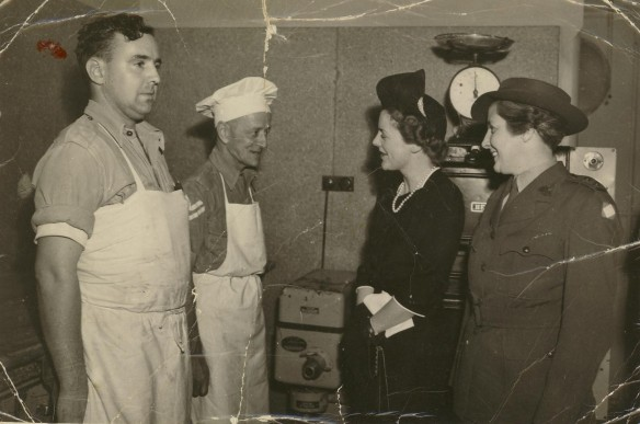 My uncle, Pat Farraher, on the left meets an unknown Vis Dig.