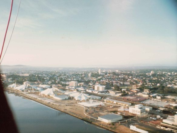 A view of the Expo site from a hot air balloon, early 1987, or was it 1988?
