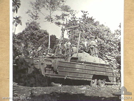 Photograph 61074 from the AWM Collection, taken in the Finchhafen area of PNG.