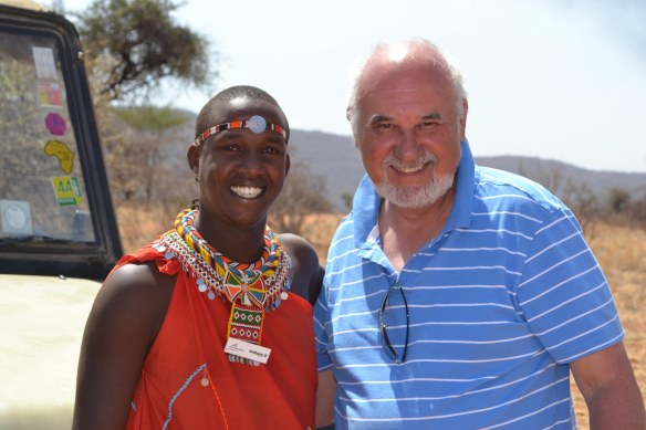Mr Cassmob and one of our Samburu guides, Anthony.