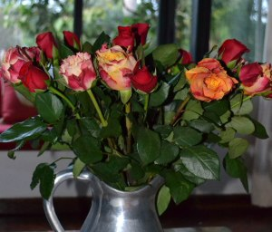 Some of the gorgeous roses from a nearby flower stall in Nairobi.