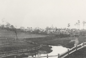 An image from SLQ looking towards Kelvin Grove (but which part?) http://trove.nla.gov.au/work/185011646