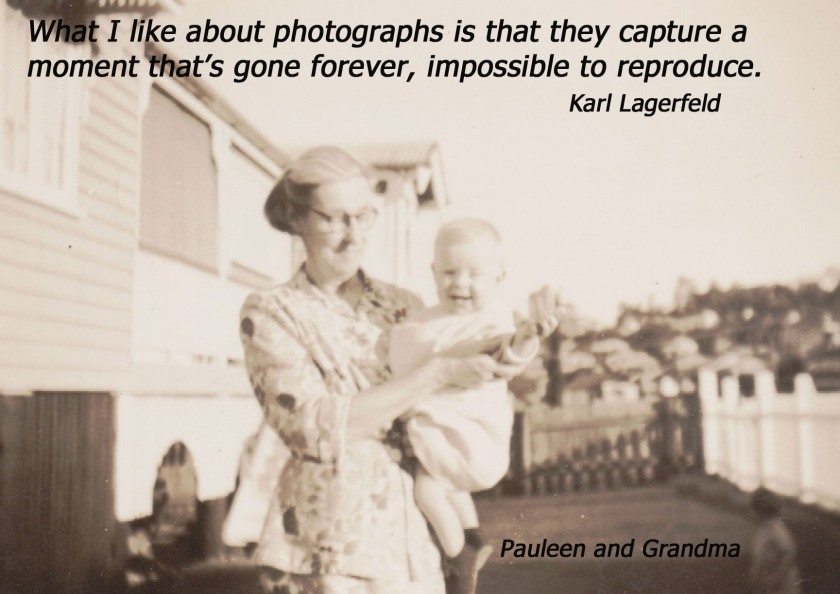 Pauleen as baby with Kit Kunkel AND QUOTE