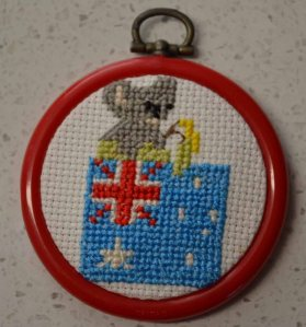 I based this Jubilee swap craft on the Xmas ones we used to do - and which were all given away.