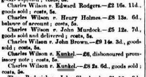 Queensland Times, 7 July 1866 UNDEFENDED CASES There were forty-five undefended cases on the sheet, of which a great many were disposed of out of Court or dismissed from non-appearance of the parties. Verdicts were given for plaintiffs in the following cases, with costs as appended. http://nla.gov.au/nla.news-article123333099