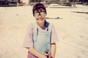 """Having fun -the headband actually says """"Ski Austria"""" not """"Ski Australia"""""""