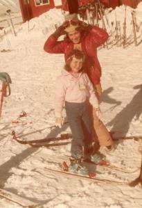 Louisa and Bec skiing Mt Hutt