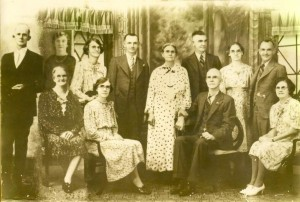 My McSherry great-grandparents and some of their children, kindly provided to me by a cousin.