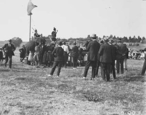 Highland Gathering Acton Flats: Duncan McCorkindale was a judge of the dancers. NationalArchivesofAustralia:A3560,2882