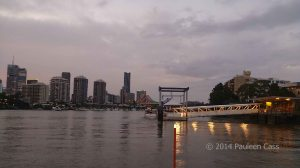 1113 Brisbane river and ferry stop