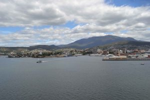 Sailing into Hobart on Day 7