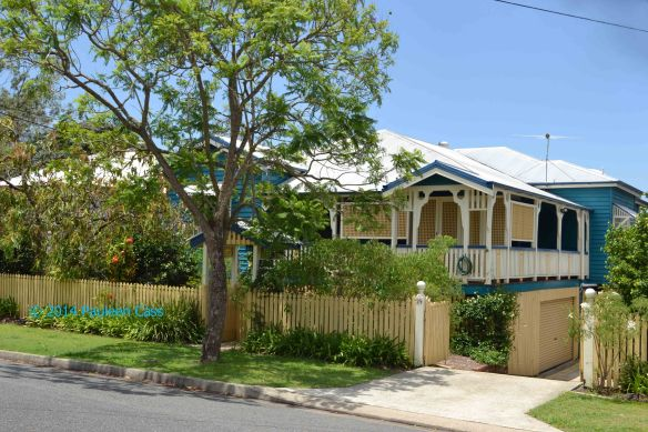 Although not in a very hilly street, the home my grandparents lived in is a good example of the Queenslander style of house.