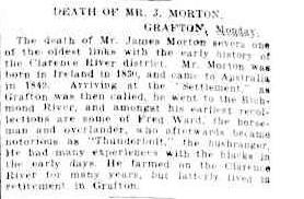 DEATH OF MR. J. MORTON. (1924, March 19). The Sydney Morning Herald (NSW : 1842 - 1954), p. 14. Retrieved March 18, 2014, from http://nla.gov.au/nla.news-article16142344